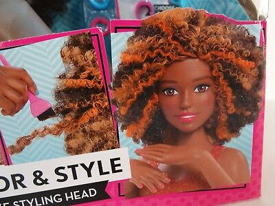 Barbie Color Style Deluxe Styling Head Curly Hair African American 38 00 Picclick