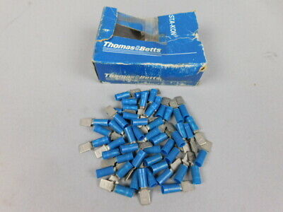 Box of 50 Thomas and Betts 14RB-250T Male Tab Terminal - NEW Surplus!