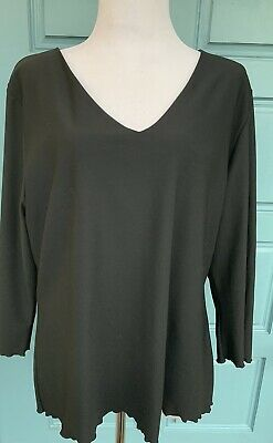 cc3dafe89 Spanx On top and in Control XL V-neck Long Sleeve Black Top
