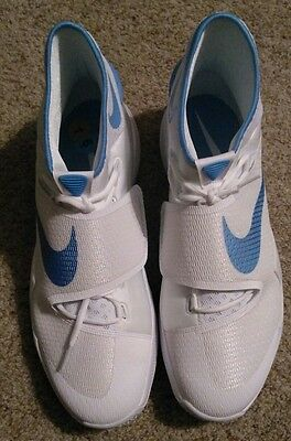 5b8ff7a89cff14 Mens Nike Zoom Hyperrev 2016 Size 16.5 White Light Blue Basketball Shoes