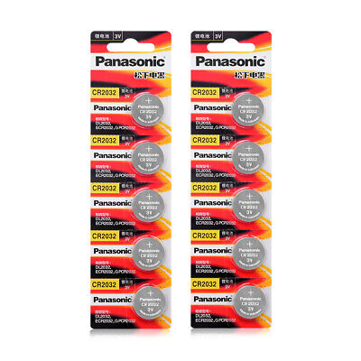 Panasonic Lithium 3V Battery CR-2032 CR2032 coin cell ECR-2032 Button Batteries