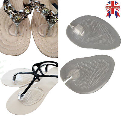 2 Pairs Silicone Gel Post Cushions Comfy Sandal Toe Protectors Pad Flip Flop New