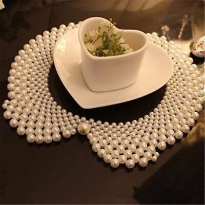 Pearl Bead Party Bib Fake Ladies Collar Women Wear Necklace Elegant Faux