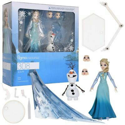 Figma Disney Frozen Princess Elsa Olaf Snowman Action Figure Figurine 16cm NoBox