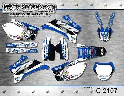 Yamaha YZf 250 450 2006 up to 2009 graphics decals stickers Moto StyleMX
