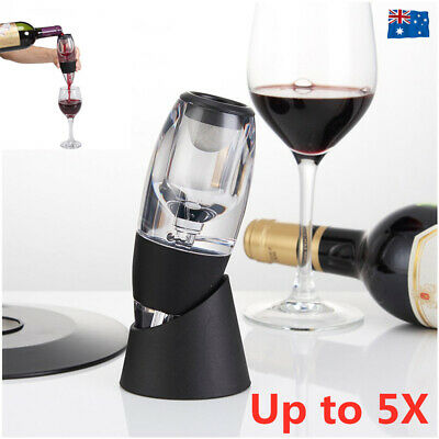 Magic Decanter Essential Red Wine Aerator Sediment Filter Pouch Pourer Tool Bar