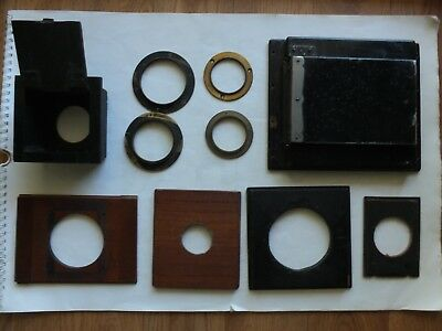Job Lot Vintage Lens Plates Retainer Rings Film Back and Holder May Suit Graflex