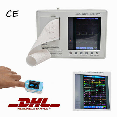 Handheld 3-Channel  ECG/EKG Machine Interpretation Printer+Gift+Printing Papers