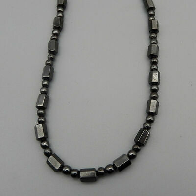 "Men Clasp Beads Magnet Black Womens 18"" Necklace Hematite Strand Choker"