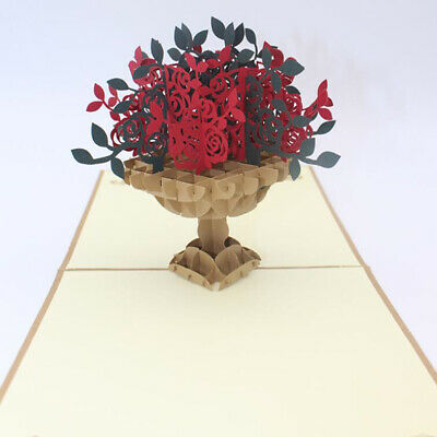 Bouquet Shape Greeting Cards Festival Birthday Party Invitation Message Card BS