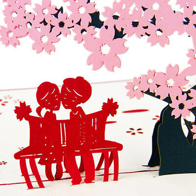Cherry Tree Greeting Cards Festival Birthday Party Invitation Valentine Card BS