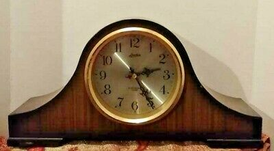 Linden Antique Vintage Clock Heavy Wood- Electronic Chimes - COLLECTABLE & RARE!