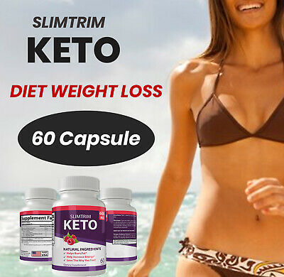 Keto Slim Trim Weight Loss Supplements to Burn Fat Fast Best Ketosis Bost Energy