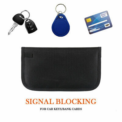 "7.6""  Phone Signal Blocker Car Key Faraday Bag Keyless Entry Fob Large Pouch"