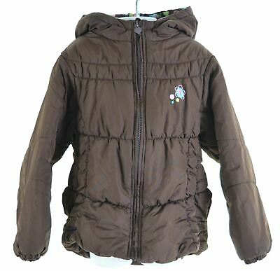 LONDON FOG Girls Padded Jacket 5-6 Years Large Brown Polyester  GX21