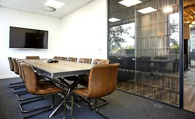 Industrial Style Rustic Office Table, Office Meeting Conference Boardroom Table