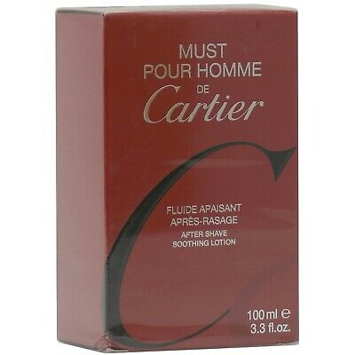 Must de Cartier Pour Homme 100 ml Soothing After Shave old vintage Version