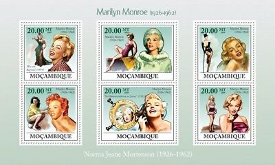 Mozambique 2009 Sheet Mnh Marilyn Monroe 2