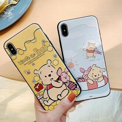 Cartoon Bear Lovely Soft Rubber Phone Case Cover For iPhone 6 7 8 plus XS Max XR