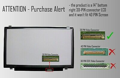 Wikiparts* New screen Compatible For LTN140KT12-L01 WXGA Laptop 1600 X 900 Display Panel-Quick UK Dispatch