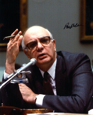 PAUL VOLCKER SIGNED 8x10 PHOTO EX CHAIRMAN OF THE FEDERAL RESERVE BECKETT BAS