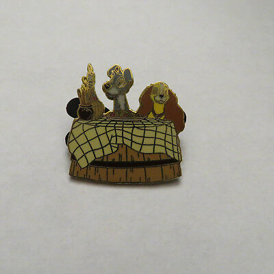 Disney Lady and the Tramp Spaghetti Dinner Pin