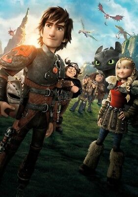 HOW TO TRAIN YOUR DRAGON 2 Movie PHOTO Print POSTER Film Cast Hiccup Toothless 7