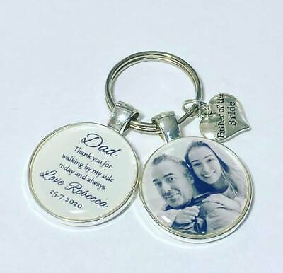 Father of the Bride personalised photo keyring Father of bride gifts Dad photo