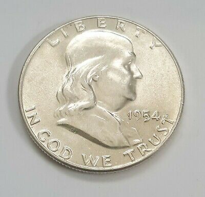 1954 BU Franklin Half Dollar