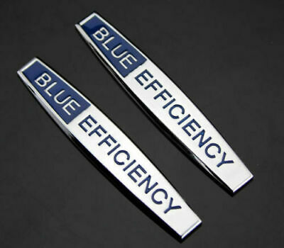 2pcs SCRITTA LOGO EMBLEMA BLUE EFFICIENCY MERCEDES BENZ  EMBLEM