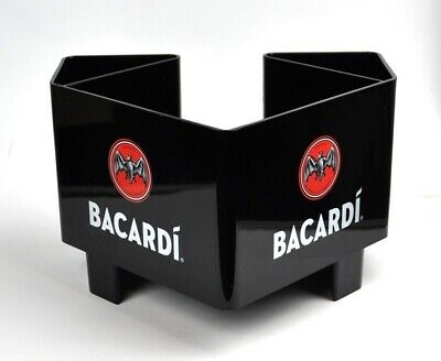 Bacardi Rum USA Napkin Stand bar Caddy Napkin Holder Black
