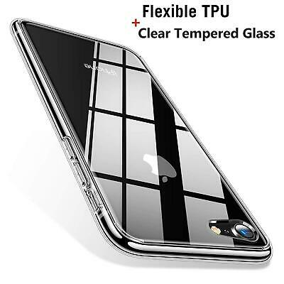 Clear Case For iPhone XS Max XR 8 7 Slim TPU Silicone Gel 360 Tough Phone Cover