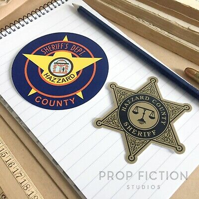 Dukes of Hazzard - Prop County Sheriff Equipment Stickers / Set Dressing Decals