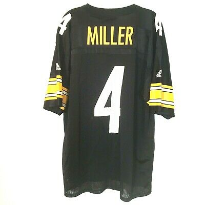 the best attitude 0f784 8e19a JOSH MILLER SIZE XL Adidas Pittsburgh Steelers Home Jersey #4 Rare Vintage  Retro