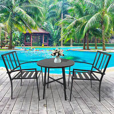 Outsunny Outdoor Dining Furniture 3pcs Outdoor Bistro Set Table and Chair Set