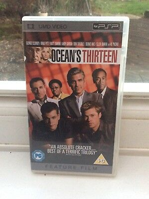 OCEANS OCEAN'S 13 : UMD Film for Sony PSP in Mint Condition