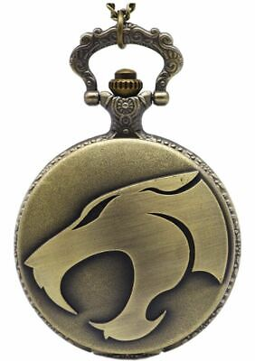 Thundercats Mens Pocket Watch Chain Steampunk Antique Retro Vintage Watches New
