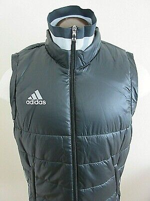 Adidas Mens Condivo Winter Down Padded Logo Vest Black Grey New Free Ship 156bf2f3d4c64
