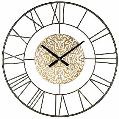 NEW 80cm Marseilles Metal Wall Clock - HighST.,Clocks