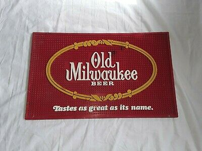 VINTAGE 1977 Old Milwaukee Beer Bar Mat - Tastes As Great As Its Name.