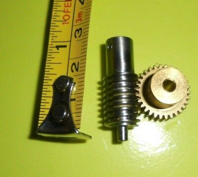 Worm Gear Metal and brass 30T pinion set