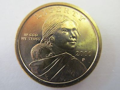 One - 2000P Native American Sacagawea Golden One Dollar Uncirculated Coin