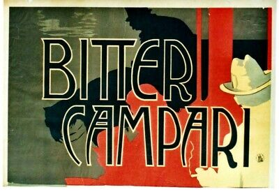 Advertising Bitter Campari 1921 Giant Wall Mural Art Poster Print 33x47 Inches