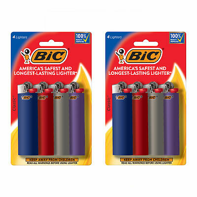 BIC Classic Lighter, 8-Pack, Assorted Colors