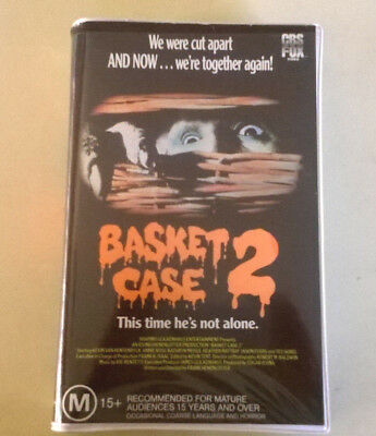 Vhs Rare Find Horror  ( Basket Case 2 ) 1990 Fox Release In Clam Excellent