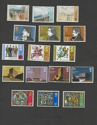 GB 1971 UNMOUNTED MINT COMMEMORATIVE YEAR SET (5 sets, 16 stamps)