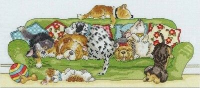 Sleeping Dogs. 14CT Counted Cross Stitch Kit. Craft Brand New.