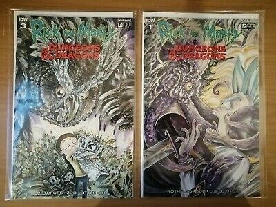 RICK AND MORTY VS DUNGEONS & DRAGONS #1 & #3 R1-A Comic D&D