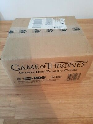 Game of Thrones Season 1 Factory Sealed 12 Box Card Case HBO Clarke Moama Auto?