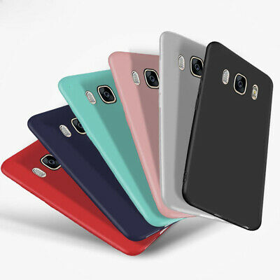 For Samsung Galaxy J3 J5 J7 2016 2017 Matte Soft Silicone TPU Back Case Cover